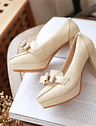 Women's Shoes Leatherette Chunky Heel Heels / Platform / Round Toe Heels Office & Career / Party & Evening / Dress Pink