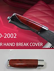 DIY Car Handbrake Grips Black Wood Grain Plastic Handbrake Cover Decoration Car Hand Break Cover