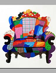 única mão puro abstrato moderno desenhar pintura decorativa frameless do sofá