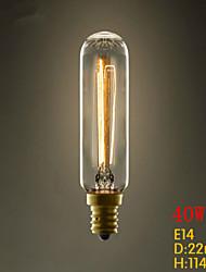 pequeños candelabros retro tubo t22 e14 220v-240v 40w e27 tornillo edison bombilla industria ligera