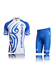 KEIYUEM Cycling Jersey with Shorts Unisex Short Sleeve BikeWaterproof Breathable Quick Dry Windproof Insulated Rain-Proof Dust Proof