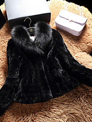 Women Fox Fur / Rex Rabbit Fur Top , Belt Not Included