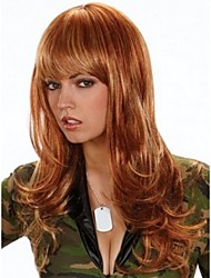Top Quality Brown Color Synthetic Long Wave Synthetic Wigs