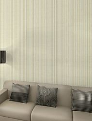 New Rainbow™ Stripe Wallpaper Contemporary Wall Covering , Non-woven Paper Environmental Thin Vertical Stripes Plain