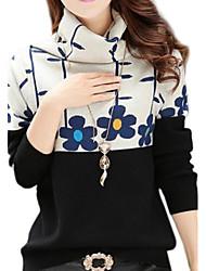 korean fleur du soleil col tricot talonnage chandail des femmes