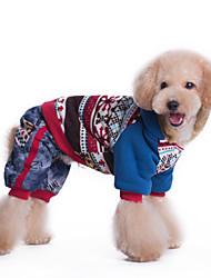 Hunde Mäntel / Overall Blau / Rosa Winter Schneeflocke warm halten / Modisch
