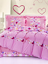 Massiv Baumwolle 4 Stück Bettbezug-Sets