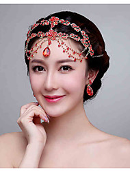 Chinese Rec Rhinestone Headpiece - Wedding / Special Occasion Head Chain/Forehead Piece