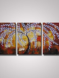 Hand-Painted Framed Palette Knife Painting Abstract Tree  Painting on Canvas for Home Decor Ready to Hang
