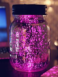 l'énergie solaire la bouteille de lune coloré lampe soleil en plein air pot projection de lumière de lumière de nuit étoilée conduit