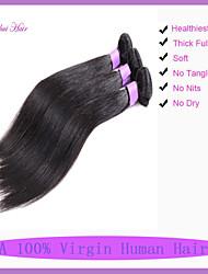 7a não transformados cabelo virgem brasileiro feixes de cabelo humano retas 1pcs trama da máquina cabelo reto de seda 8-30 polegadas