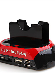 tutto in un USB2.0 a 2.5 / 3.5 doppio hdd sata docking station GL02