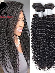 3Bundles cabelo humano profundo onda cabelo malaio 8-26inch cor natural virgem tece