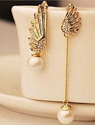 Earring Drop Earrings Jewelry Women Wedding / Party / Daily / Casual Alloy / Imitation Pearl 1set Gold