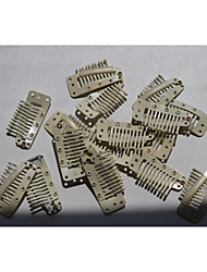Парик аксессуары 3.6cm блондинка оснастки гребень зажимы для клипа в расширениях утка / парики волос 20шт инструменты
