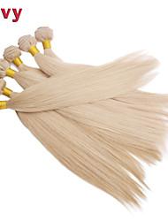 """vivy 10 """"-30"""" 5 pacchi # 613 capelli biondi di estensioni dei capelli remy brasiliani capelli lisci capelli tessuto brasiliano vergine"""