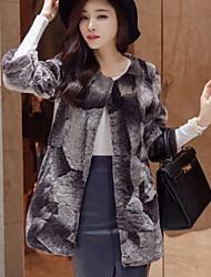 Women Lamb Fur Top , Belt Not Included
