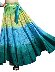 100% algodón novela neón lentejuelas ocasional falda larga de las mujeres