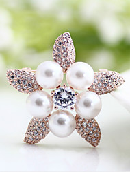 Three with high-grade pearl necklace brooch buckle inlaid CZ scarf
