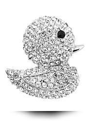 Cute Little Yellow Duck Inlaid Diamond Brooch