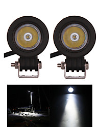 2PCS CREE 10W Offroad LED Work Light Spot Motorcycle Headlight 12V 24V Truck Boat SUVATV 4WD Led Driving Light Fog Lamp
