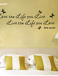 AWOO®  Bob Marley Wall Sticker DIY Home Decorations Quotes Vinyl Wall Decals Wall Mural Art