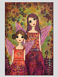 Stretched Canvas Oil Painting Art Little Girl Style Children Painting 60*90CM