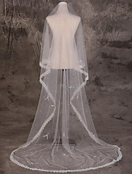 Wedding Veil One-tier Blusher Veils / Chapel Veils / Cathedral Veils Lace Applique Edge