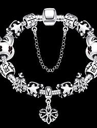 Fashion jewelry Strand Beads Bracelets Beads Glass Beads Charm Bracelets 925 silver European beads for women PH026