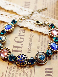 Fashion Jewelry Retro Crystal Flower Bracelet
