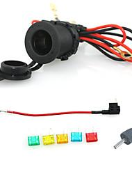 12v 24v waterdichte sigaret stopcontact auto motorfiets met 60cm koorden add-a-circuit houder blade zekering klein met zekering