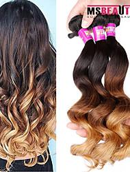 3 Pcs /Lot 7A 3T Malaysian Virgin Loose Wave Hair Weft 100% Unprocessed Virgin Human Hair Weaves