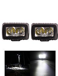 2PCS 10W ROUND CREE LED WORK LIGHT FOR 4x4 UTV BOAT OFF ROAD Spot MOTORCYCLE BICYCLE TRUCK FOG DRIVING