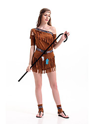 New!Coffee Indian Princess Costumes For Carnival,Aborigine Cosplay For  Dionysia Halloween Costumes