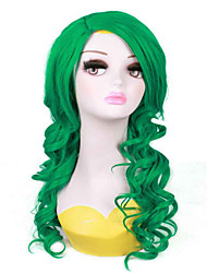 Green  Cosplay  Wave  Style Long   Syntheic  Wig