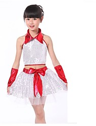Jazz Outfits Unisex Performance Sequined Sequins 4 Pieces Blue / Red