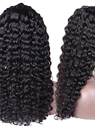 Peruvian Virgin Hair Lace Front Curly Wig Unprocessed Glueless Front Lace Human Hair Wig Long Deep Curly Wig With Combs