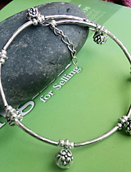 Bohemia Silver-Plated Small Ball Anklet