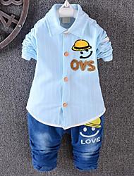 Boy's Fabric Kids Apparel ,Season Sleeve Length Two Cotton Shirts Suit