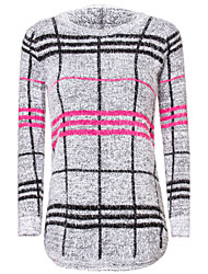 Women's Print Pullover Sweater , Long Sleeve Fashion Sweater