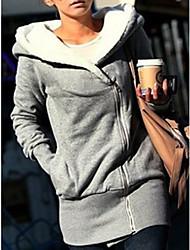 Women's Thicken Fleece Lined Hoodie Coat