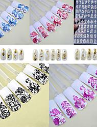 Autocolantes de Unhas 3D / Jóias de Unhas - Punk - para Dedo - de PVC - com 1PCS - 276mm*204mm