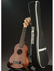 TOP 21 Inch Soprano Ukulele Uke Four Strings Instrument Sapele 15 Frets Laser Engraving Rosewood Semi Closed Classic
