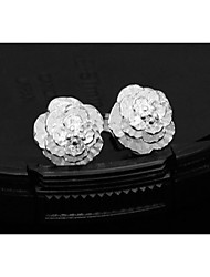 Casual Silver Plated Stud Earrings