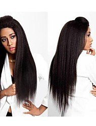 Joywigs Kinky Straight Wig Italian Yaki Brazilian virgin Human Hair Full Lace Wig/Lace Front Wig for Black Women