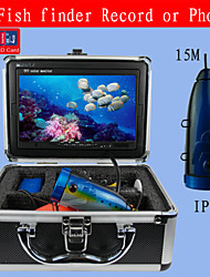 fish finder macchina fotografica subacquea / monitor del sistema 15m hd 1000tvl cam video registratore dvr ha condotto le luci auto sd 4gb