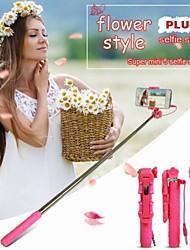 le style de fleurs ultra mini-réglable monopode universelle téléphone mobile titulaire selfie bâton