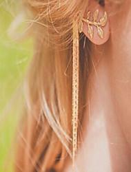 New Arrival Fashional Leaf Chain Tassel Earring