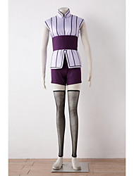 Inspired by Naruto Hinata Hyuga Anime Cosplay Costumes Cosplay Suits Patchwork Purple Vest / Shorts / Belt / Stockings