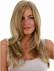 Long Length Straight Hair European Weave Light Mixed Color Hair Wig